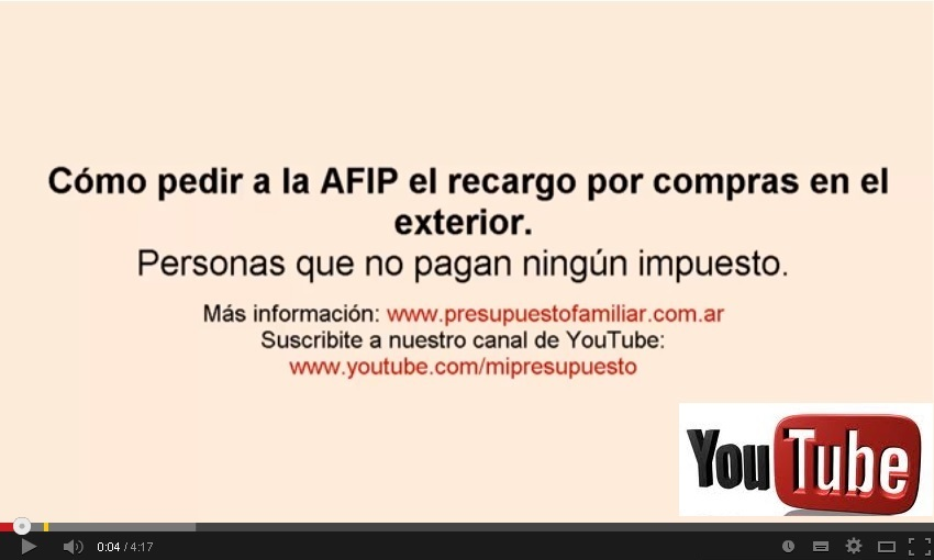 Video Pedir reintegro 20 35 a la AFIP sin pagar impuestos
