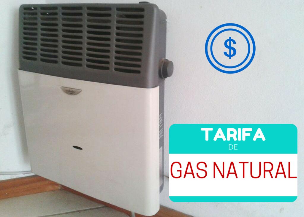 tarifas del gas natural