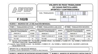 Empleada doméstica: cómo es el formulario de pago
